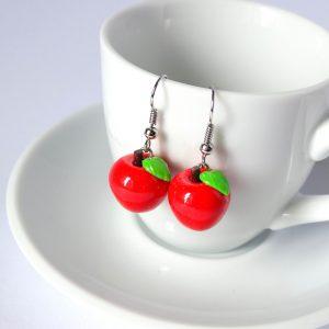 rode appel oorbellen