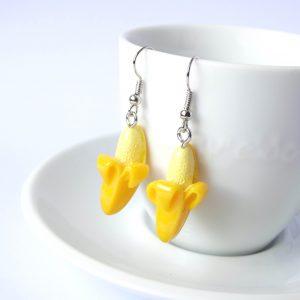 bananen oorbellen