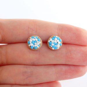 beschuit met muisjes oorstekers blauw