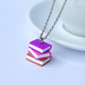 boeken ketting paars roze koper