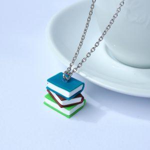 Boekjes ketting blauw koper groen