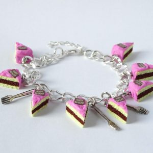 taart armband roze vorkjes