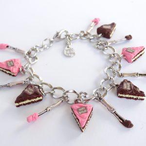 taart armband roze chocolade