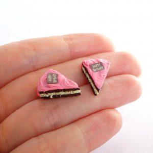 Taartpuntjes oorstekers chocolade roze
