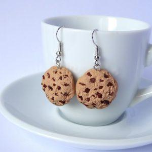 Chocolade koekje oorbellen