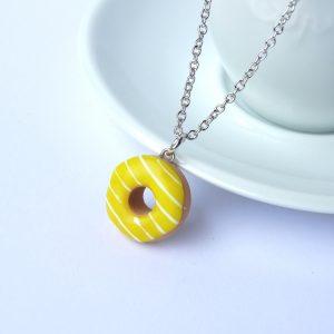 Donut ketting geel