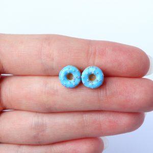 Donut oorstekers baby blauw