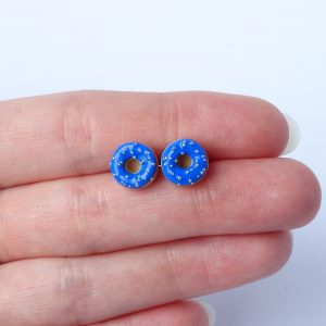 Donut oorstekers donkerblauw
