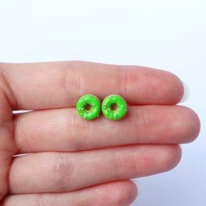 Donut oorstekers groen