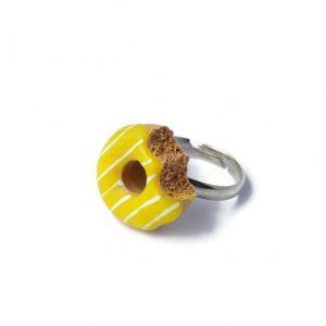 Donut ring geel
