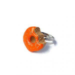 Donut ring oranje