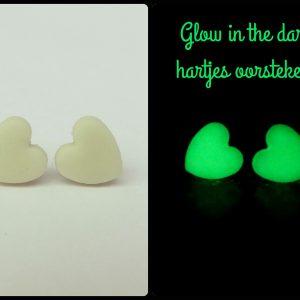 glow in the dark hartjes oorstekers