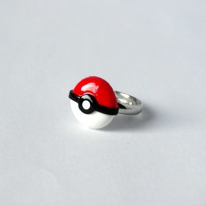Pokemon pokeball ring