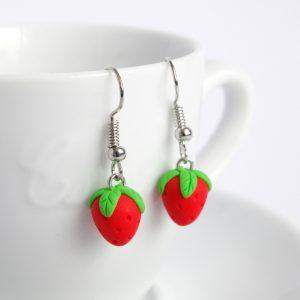 aardbeien oorbellen mini