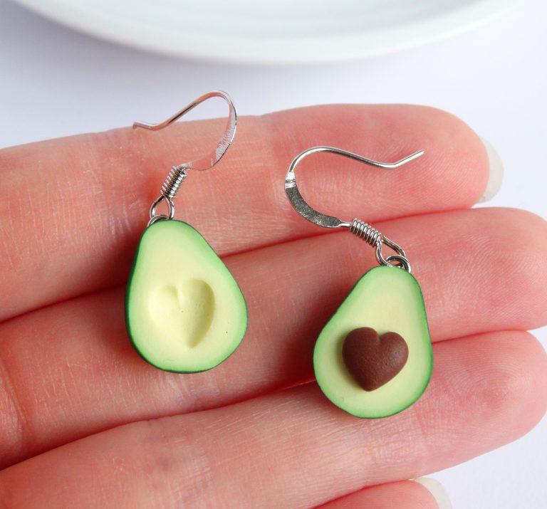 Avocado Oorbellen Hart
