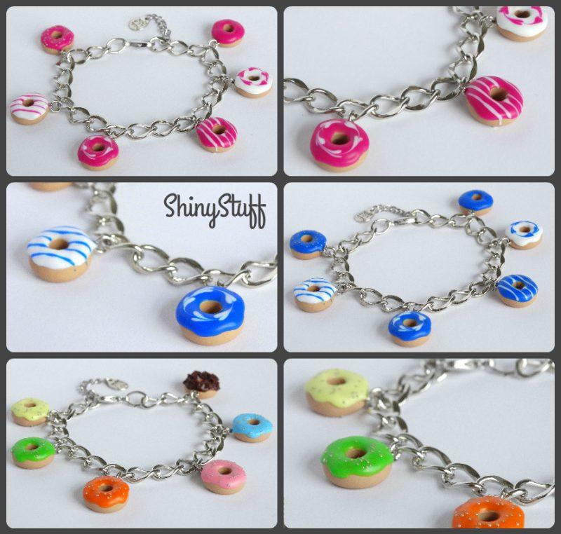 Donut armbanden verschillende kleuren
