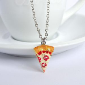 Pizza punt ketting