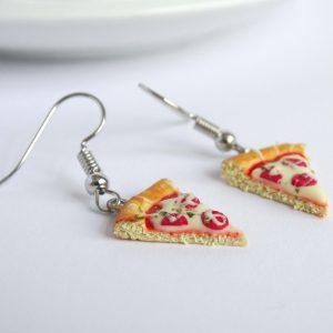 Pizza oorbellen