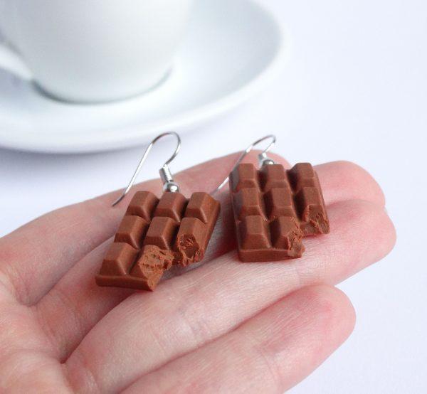 Chocolade oorbellen melk