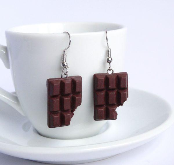 Chocolade oorbellen puur
