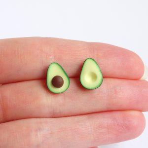 Avocado oorbellen oorknopjes oorstekers