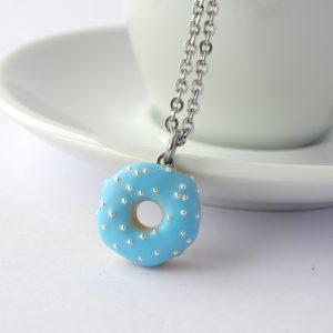 Donut ketting pastel blauw