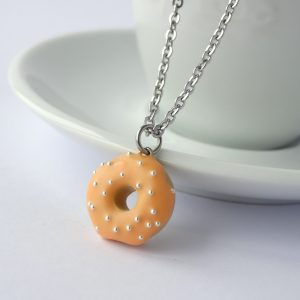 Donut ketting pastel oranje