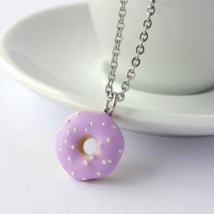 Donut ketting pastel paars