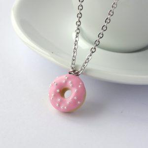 Donut ketting pastel roze